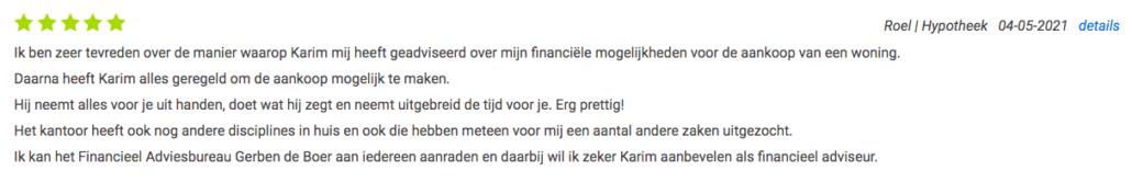 review Adviesbureau De Boer advieskeuze.nl